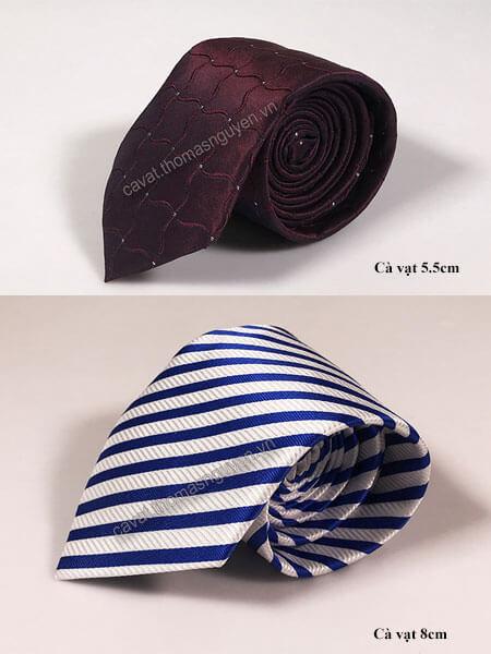 Cà vạt bản lớn và cà vạt bản trung