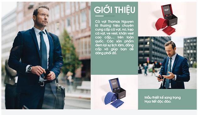 Giới thiệu cà vạt Thomas Nguyen
