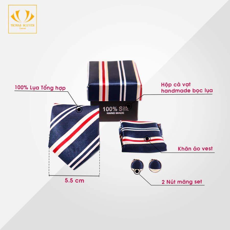 Set cà vạt bản 5.5
