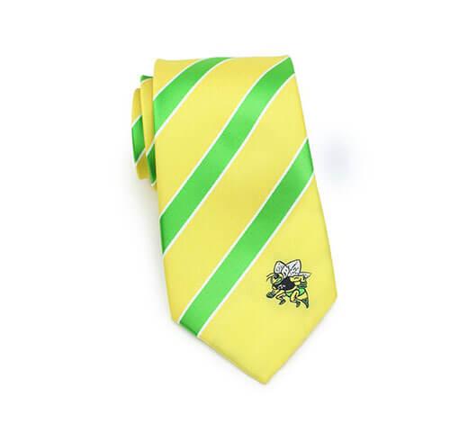 Cà vạt sọc xanh vàng