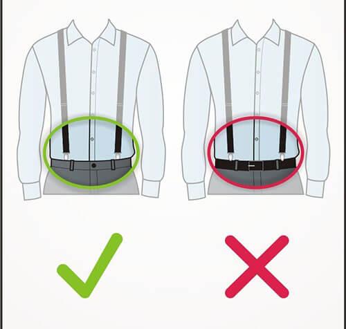 Lưu ý khi dùng dây đeo quần