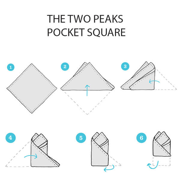 The two peaks pocket square