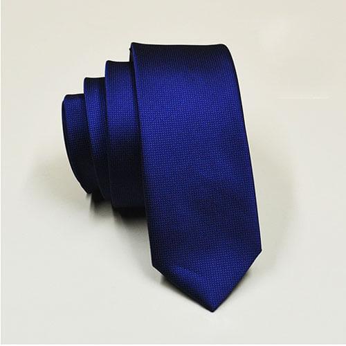 Cà vạt cao cấp màu xanh bản nhỏ