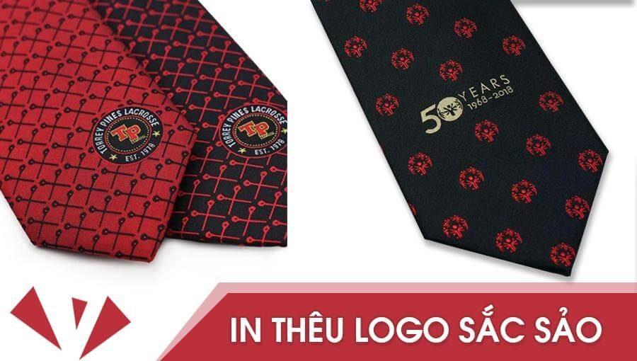 In thêu logo trên cà vạt | Sắc sảo – Tinh tế