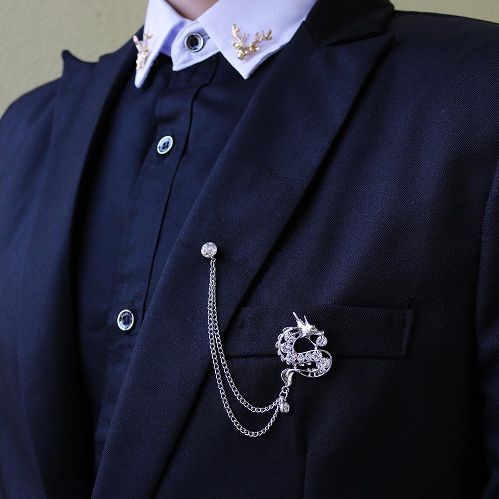 Ghim cài áo vest luxury Thomas Nguyen