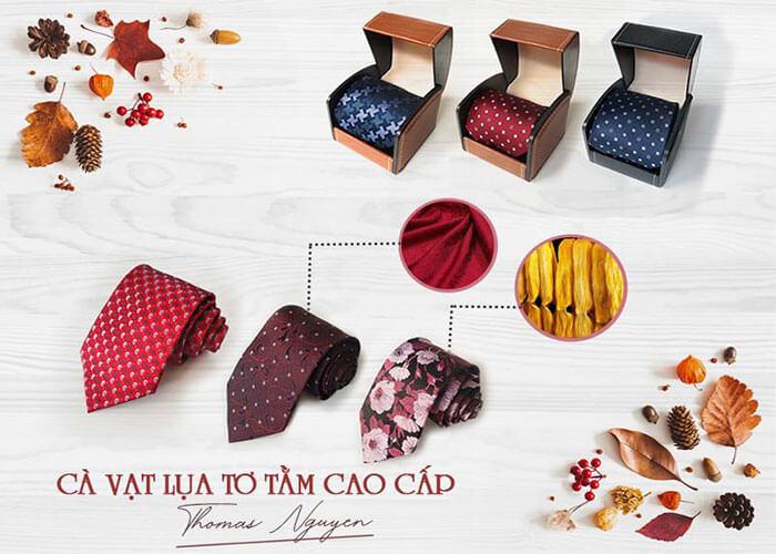 Cà vạt lụa tơ tằm Thomas Nguyen