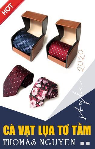 Cà vạt lụa tơ tằm 100%