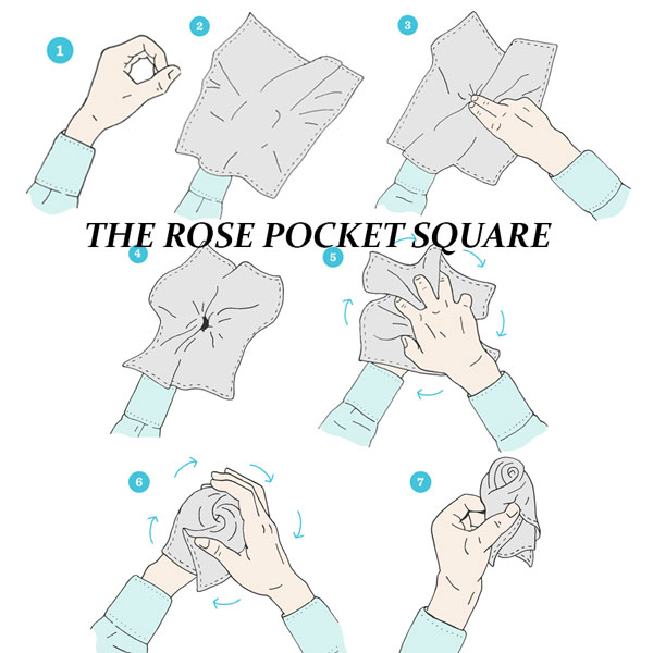 THE ROSE POCKET SQUARE