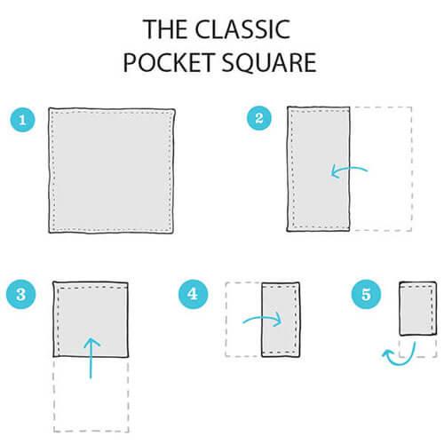 khăn cài túi áo vest
