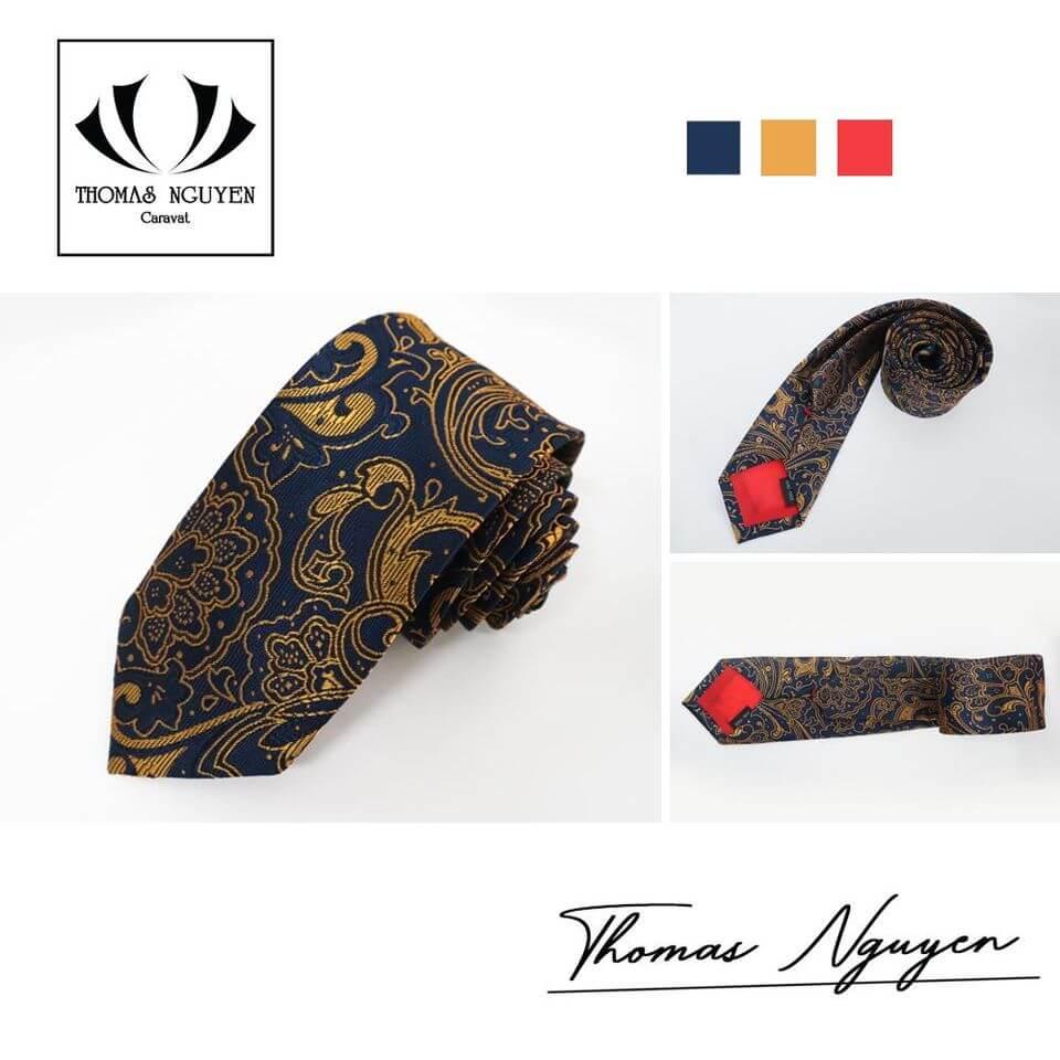 Cà vạt hoa văn bản nhỏ