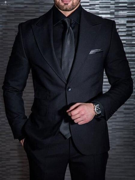 cà vạt đen bản nhỏ
