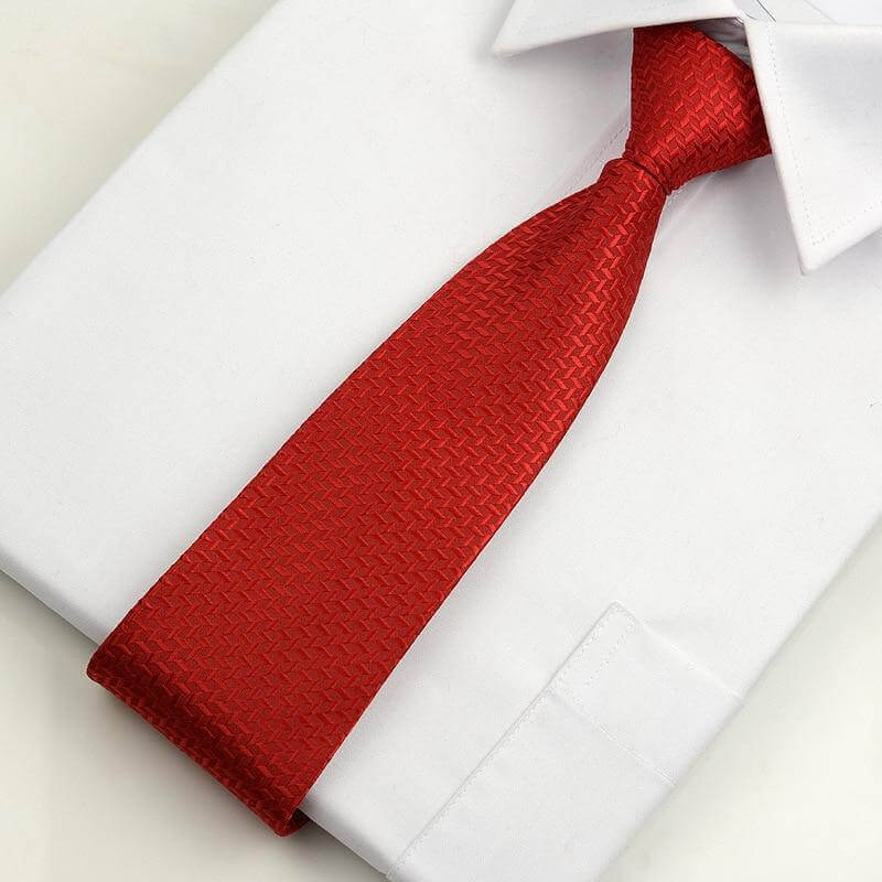 Cà vạt thắt sẵn họa tiết màu đỏ Thomas Nguyen