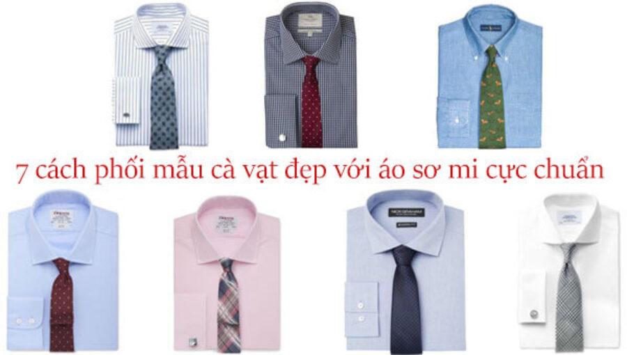 Mẫu Cà Vạt Nam Đẹp | 7 cách phối cùng áo sơ mi cực chuẩn