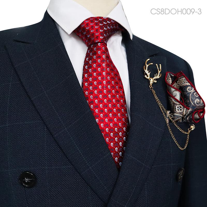 Ý nghĩa cà vạt đỏ họa tiết