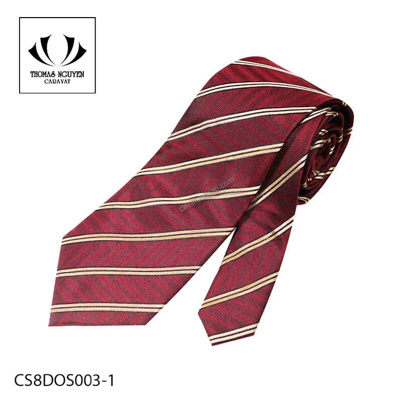 Cà vạt sọc đỏ đẹp Thomas Nguyen