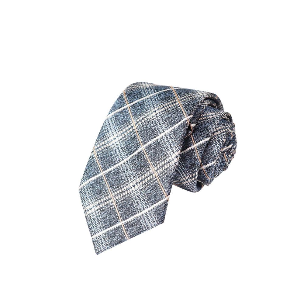 Cà vạt bản nhỏ họa tiết kẻ sọc Thomas Nguyen