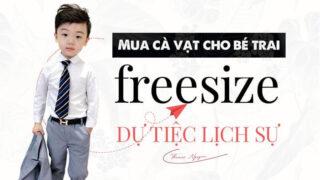 Chọn mua cà vạt cho bé trai freesize dự tiệc lịch sự