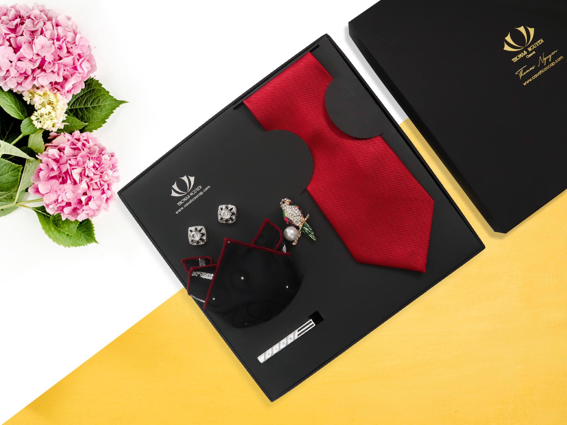 Combo cà vạt lụa tổng hợp tặng thầy giáo