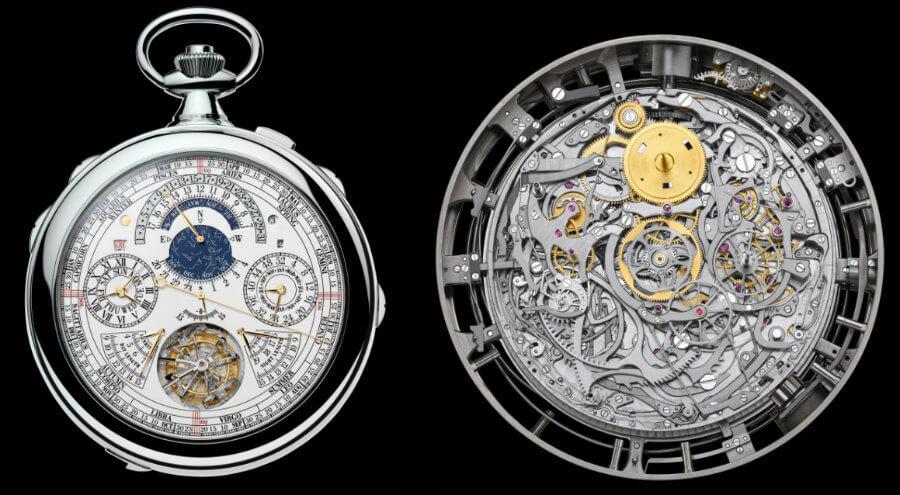 Đồng hồ quả quýt cơ không có vỏ nắp