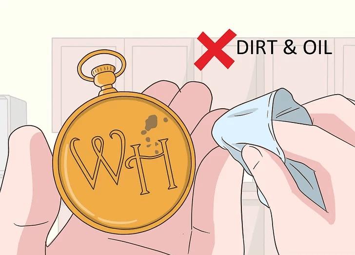 Vệ sinh dầu và bụi bẩn hàng ngày để bảo quản đồng hồ quả quýt tốt nhất