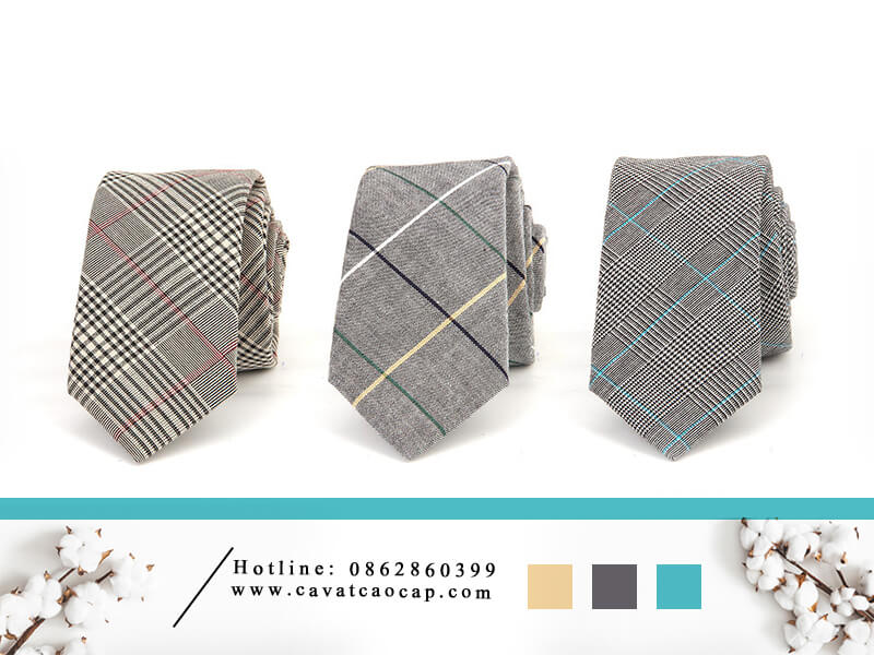 cà vạt cotton Hàn Quốc Mr.K