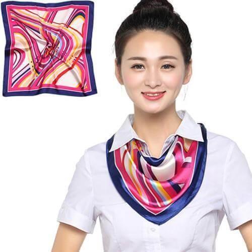 Thắt khăn turban cổ chữ V