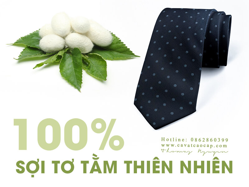 Cavat lụa cao cấp của BST Classy Gentleman được làm từ 100% sợi tơ tằm thiên nhiên