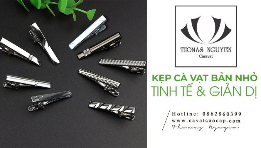 Kẹp cà vạt bản nhỏ dành cho quý ông thích sự giản dị