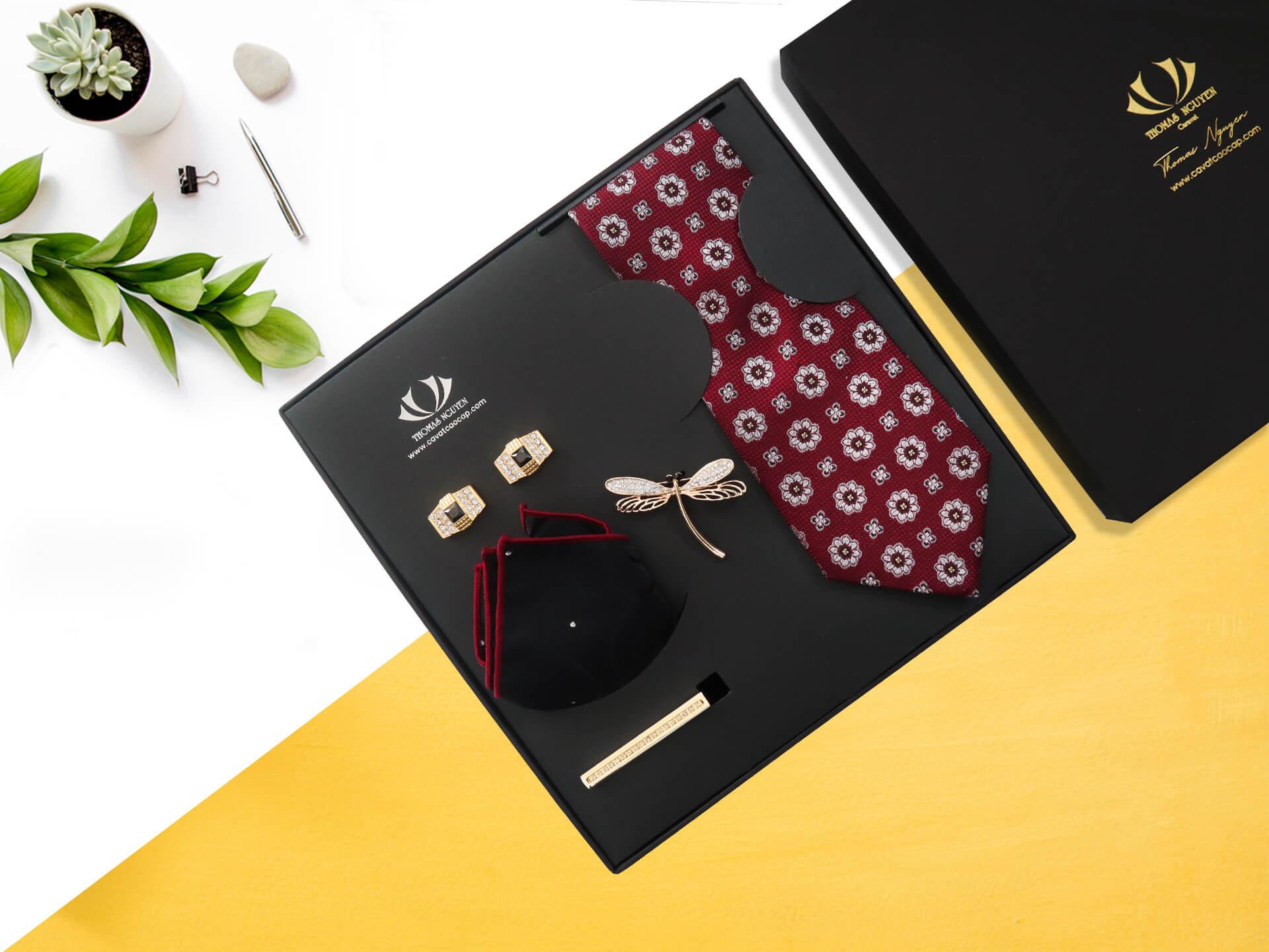 COMBO cà vạt lụa tơ tằm tặng thầy giáo Thomas Nguyen