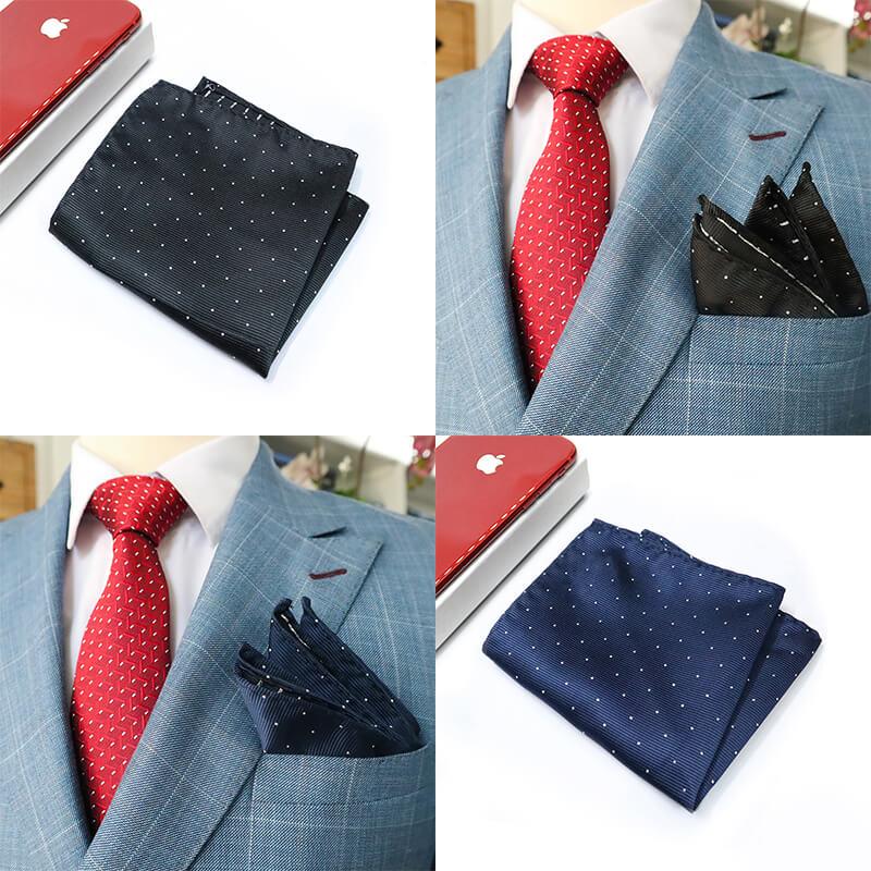 Chọn và kết hợp màu sắc giữa cà vạt cùng khăn cài túi áo vest nam