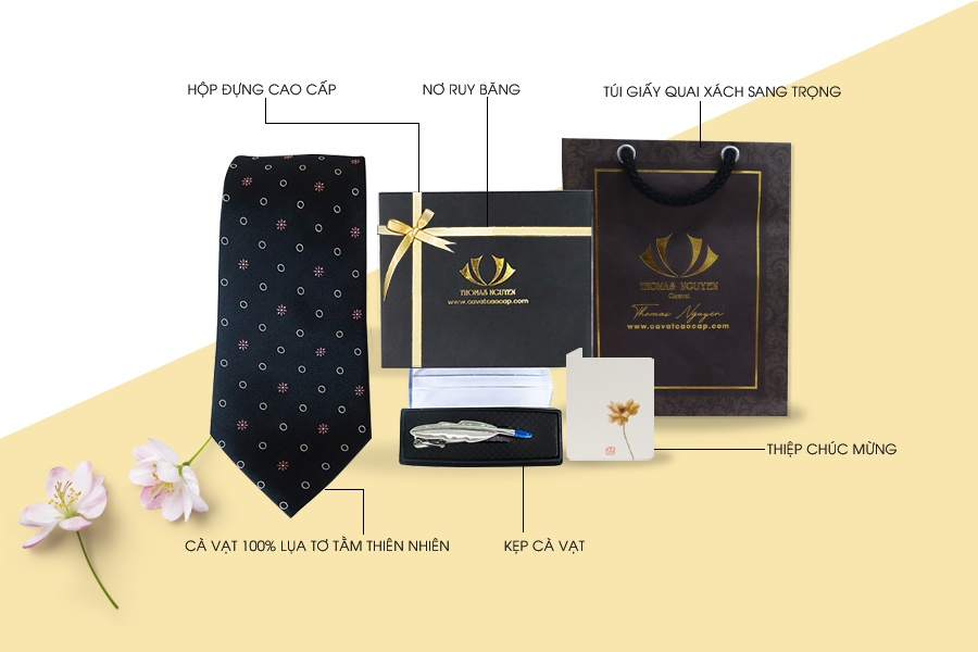 Combo quà tặng cà vạt silk cao cấp