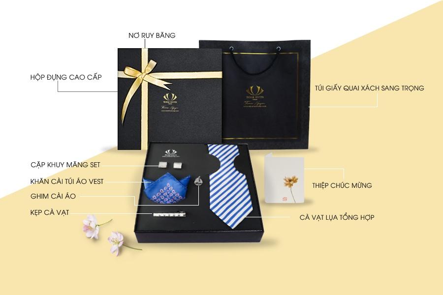 Combo quà tặng cà vạt cao cấp