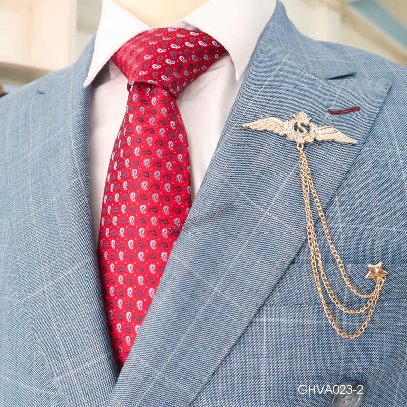 Chọn caravat theo tỷ lệ ve áo và cà vạt