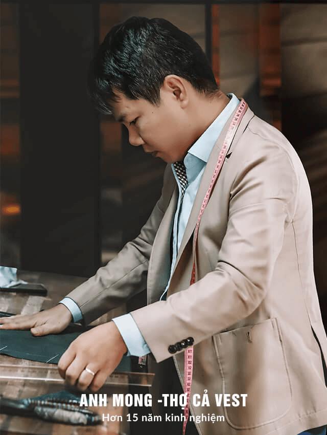 Anh Mong - Thợ cả vest có hơn 15 năm kinh nghiệm