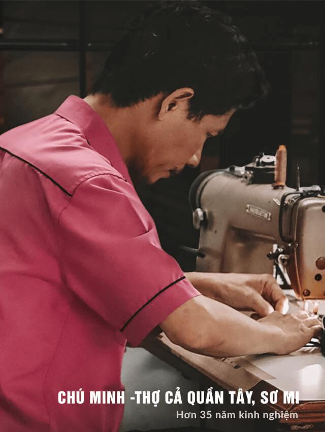 Chú Minh - Thợ cả quần tây, áo sơ mi với hơn 35 năm kinh nghiệm