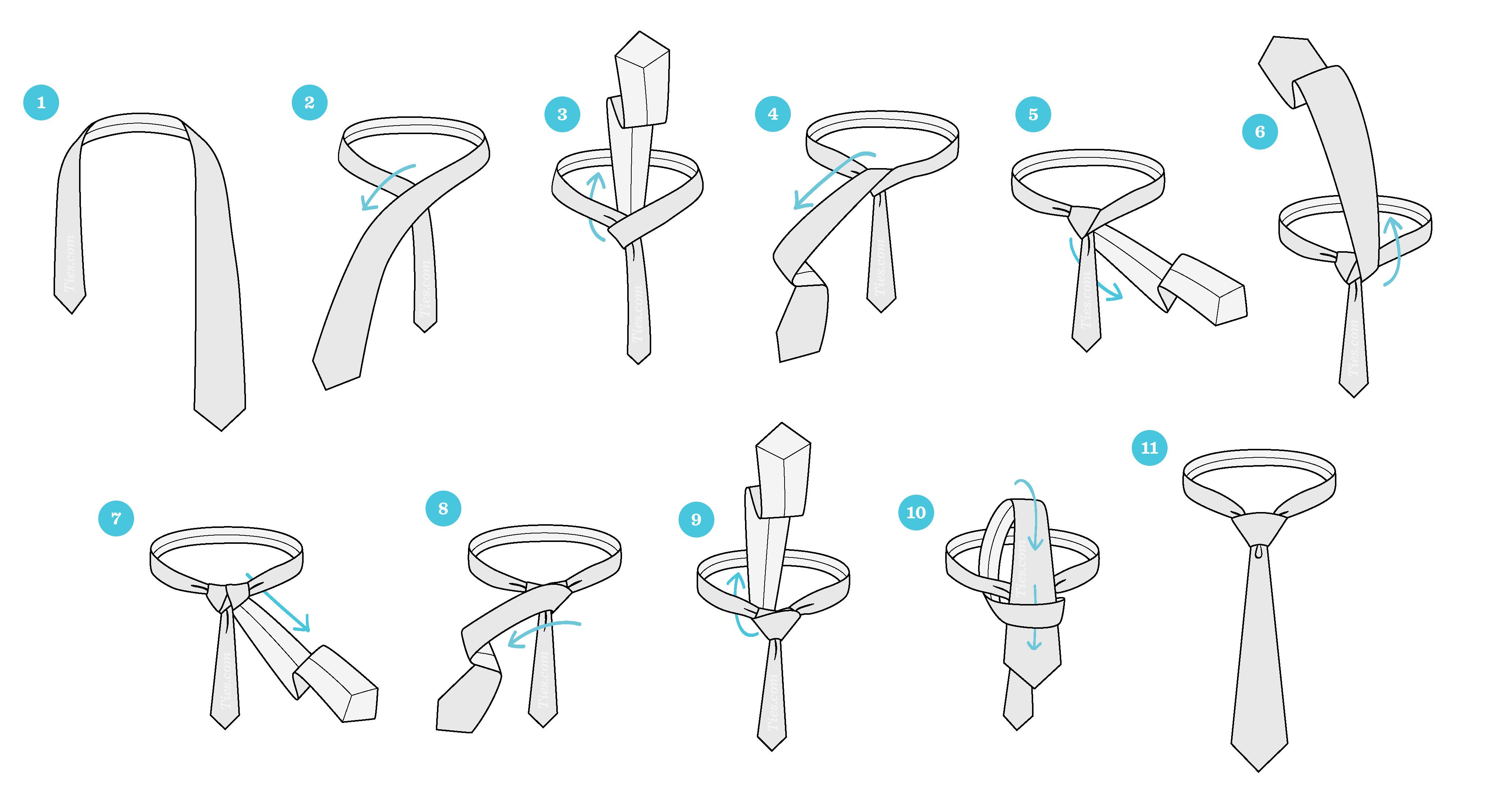Cách thắt cà vạt tạo nút thắt lớn Windsor