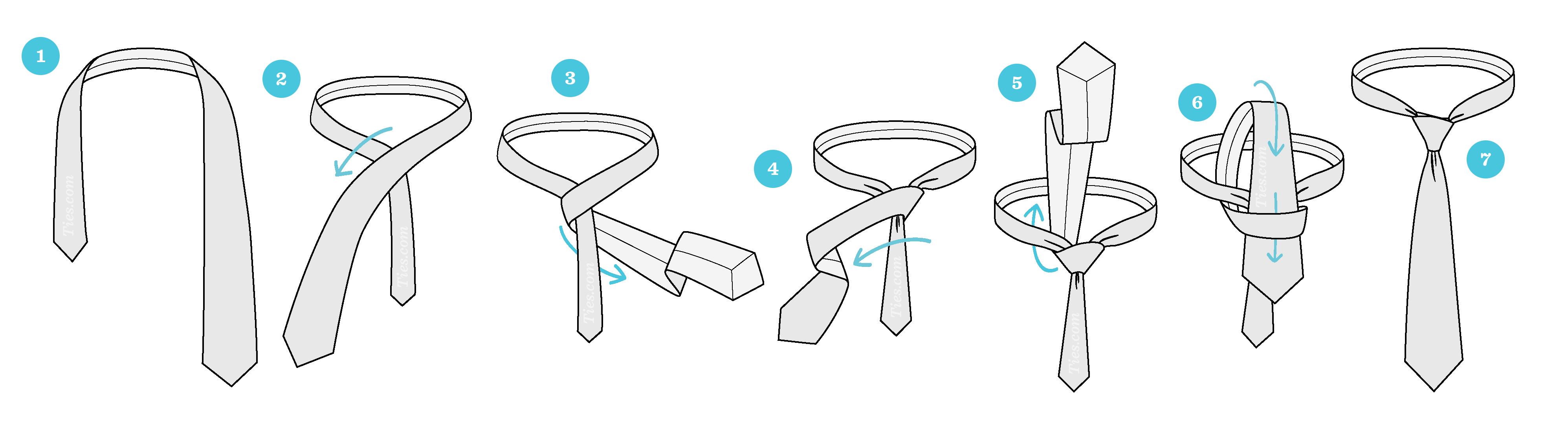 Cách thắt cà vạt tạo nút thắt nhỏ Four in Hand