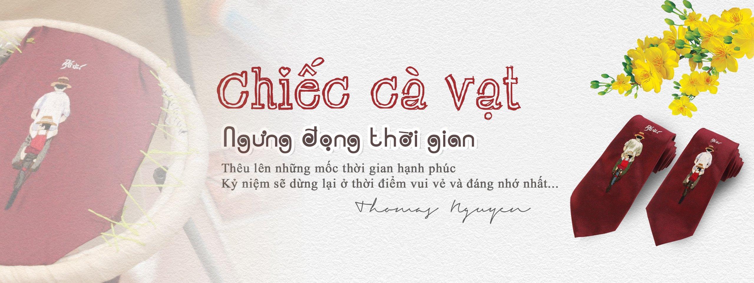 Cà vạt thêu tay Thomas Nguyen