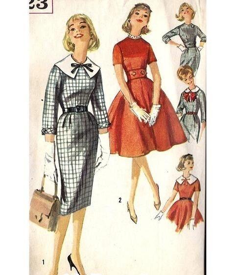 những kiểu váy có cổ để mix cùng nơ điệu đà