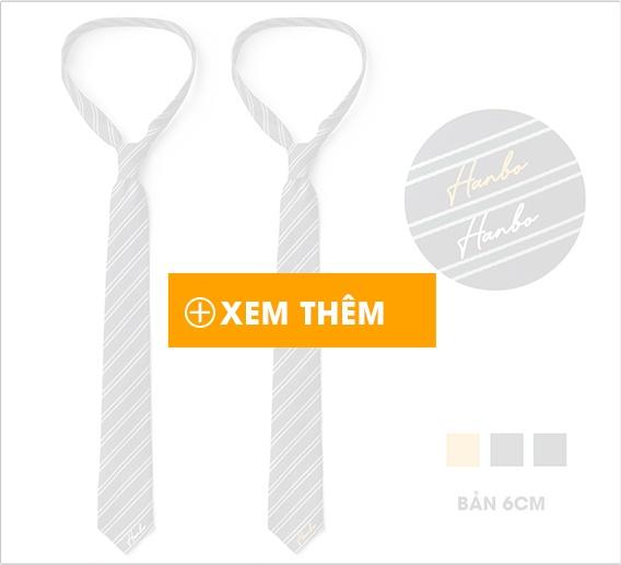 Cà vạt lụa tổng hợp bản nhỏ