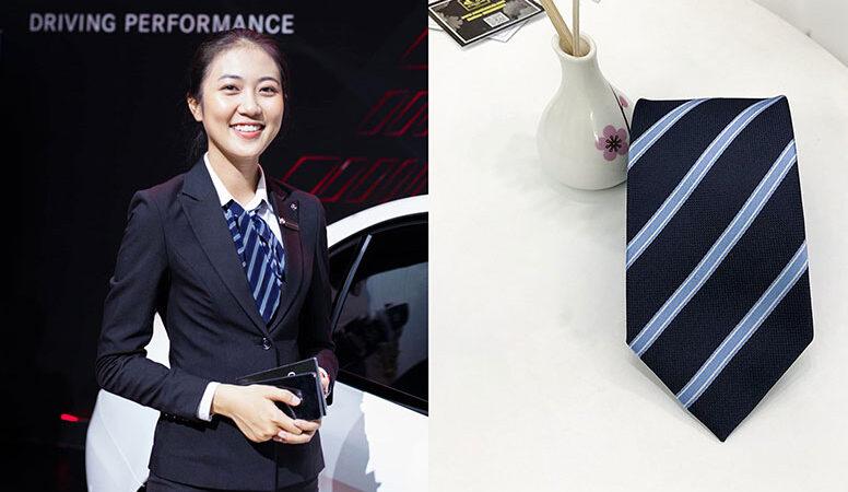 Các mẫu cà vạt công sở nữ theo phong cách quý cô hiện đại